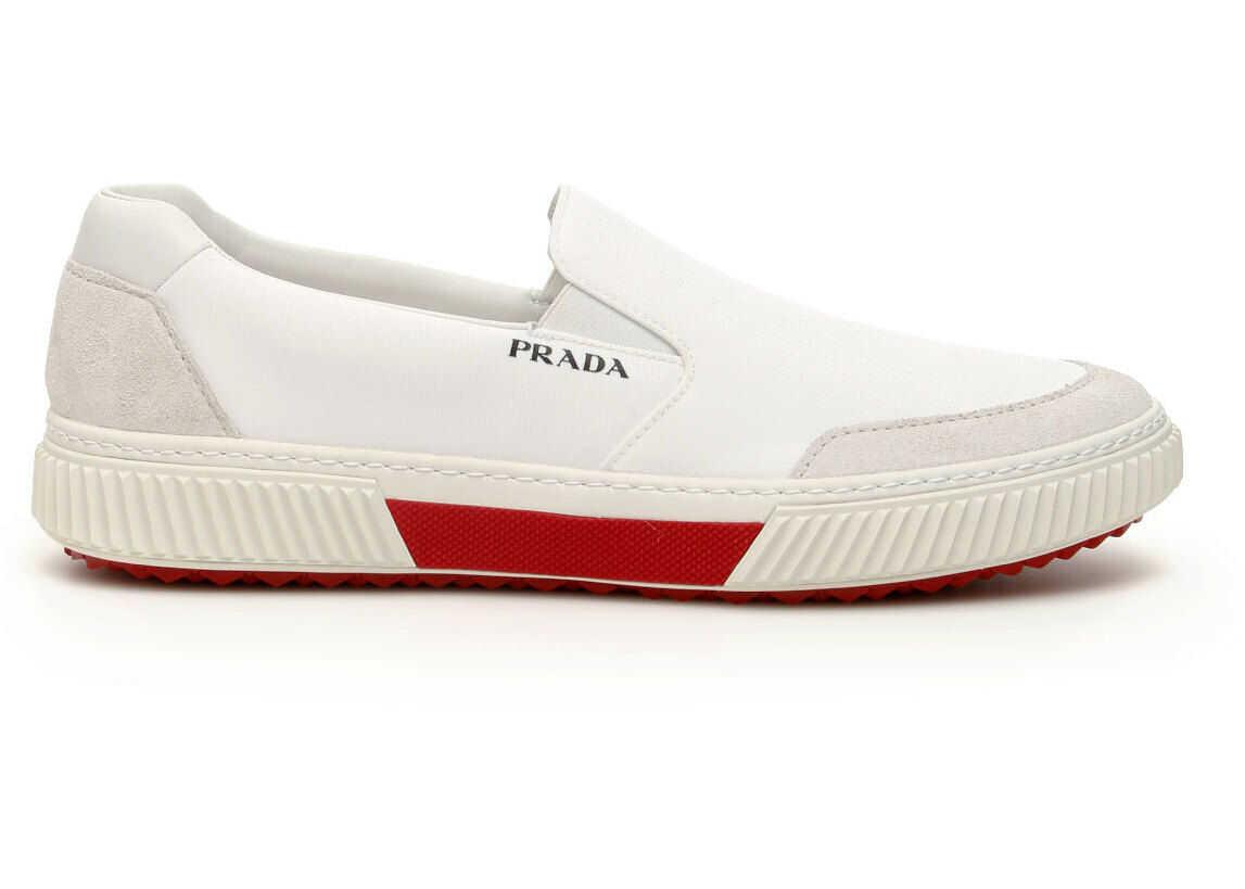 Prada Stratus Slip-On Sneakers 4D3475 3OF1 TALCO RUBINO imagine b-mall.ro