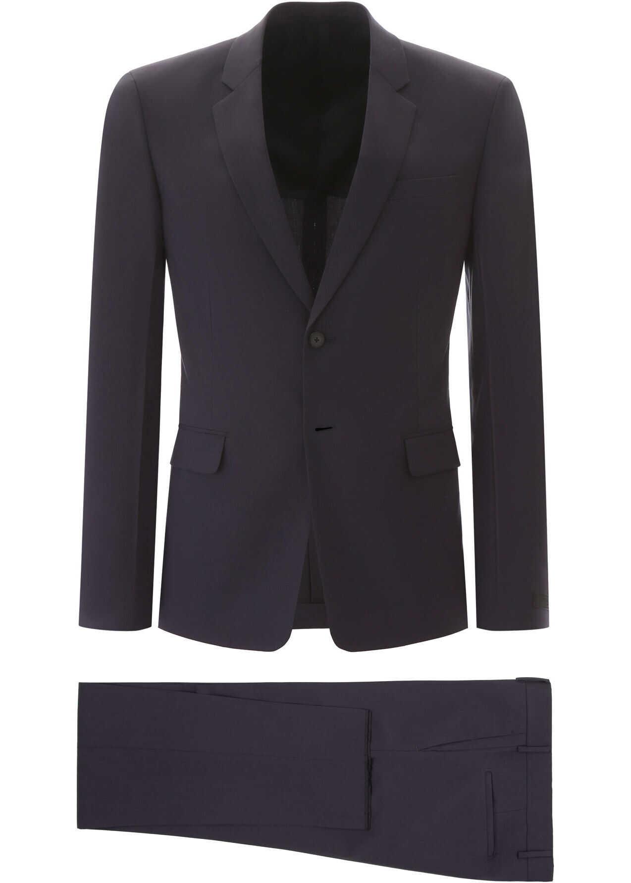 Prada Bi-Stretch Suit NAVY imagine
