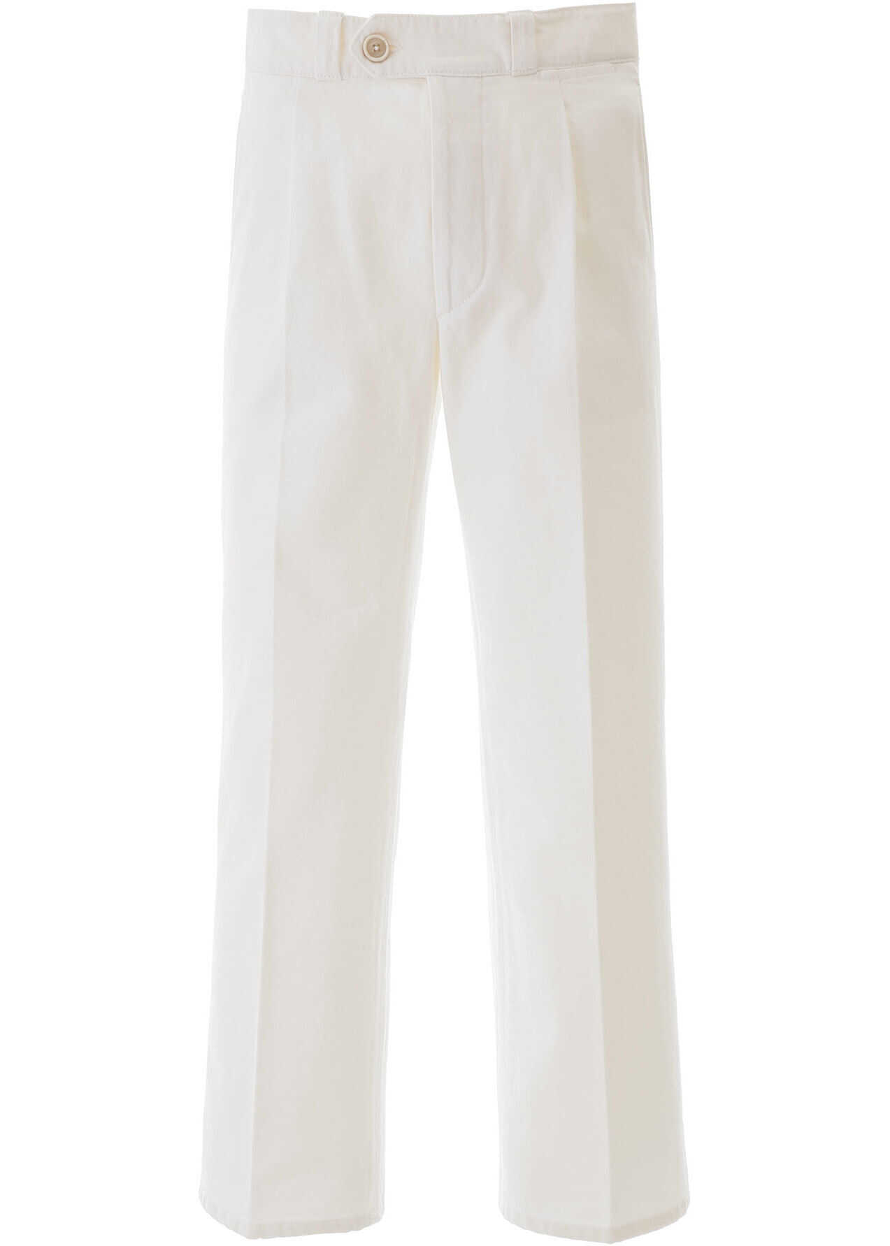 Prada Jeans With Front Pleats WHITE imagine