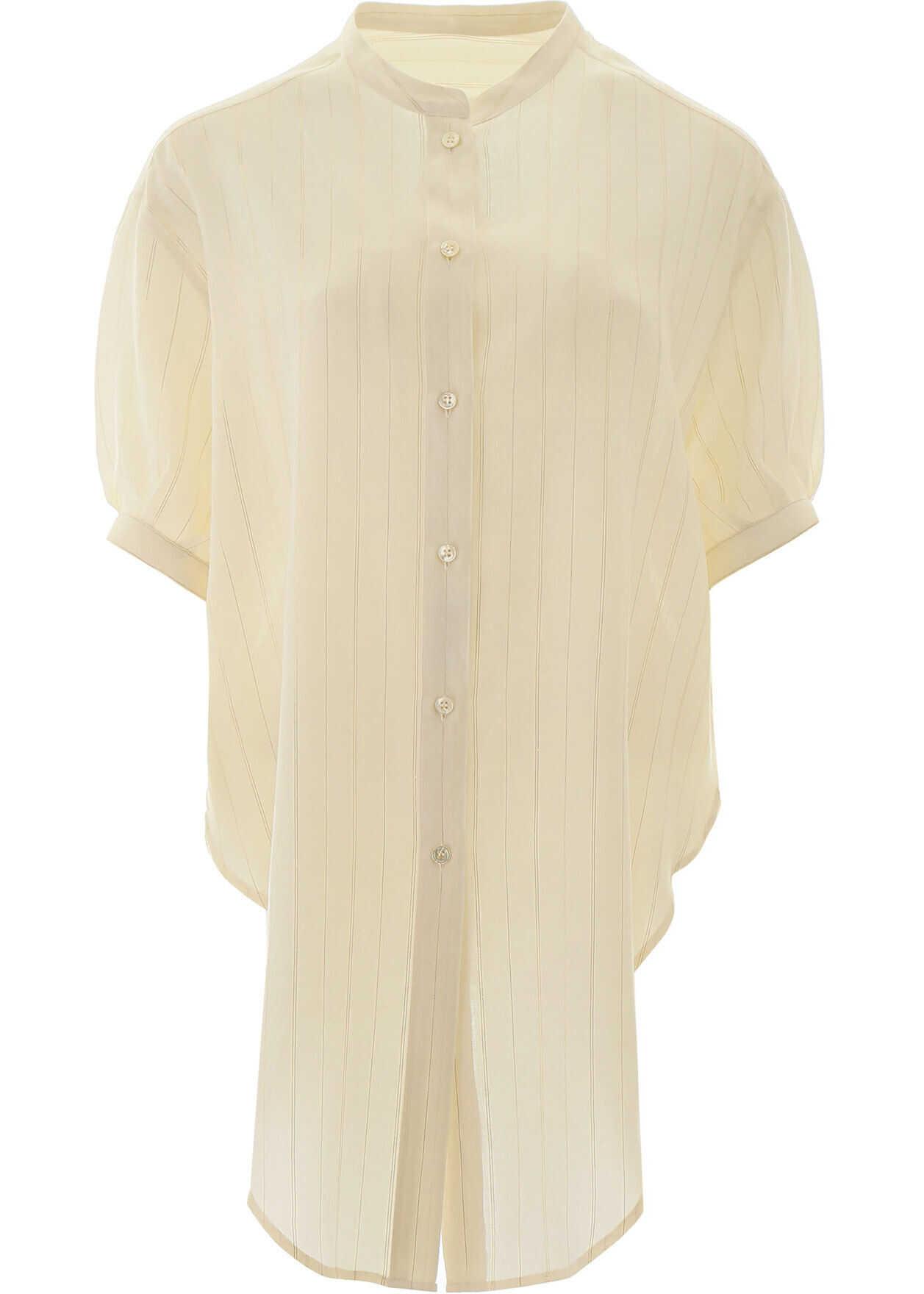 Saint Laurent Lurex Striped Shirt CRAIE OR