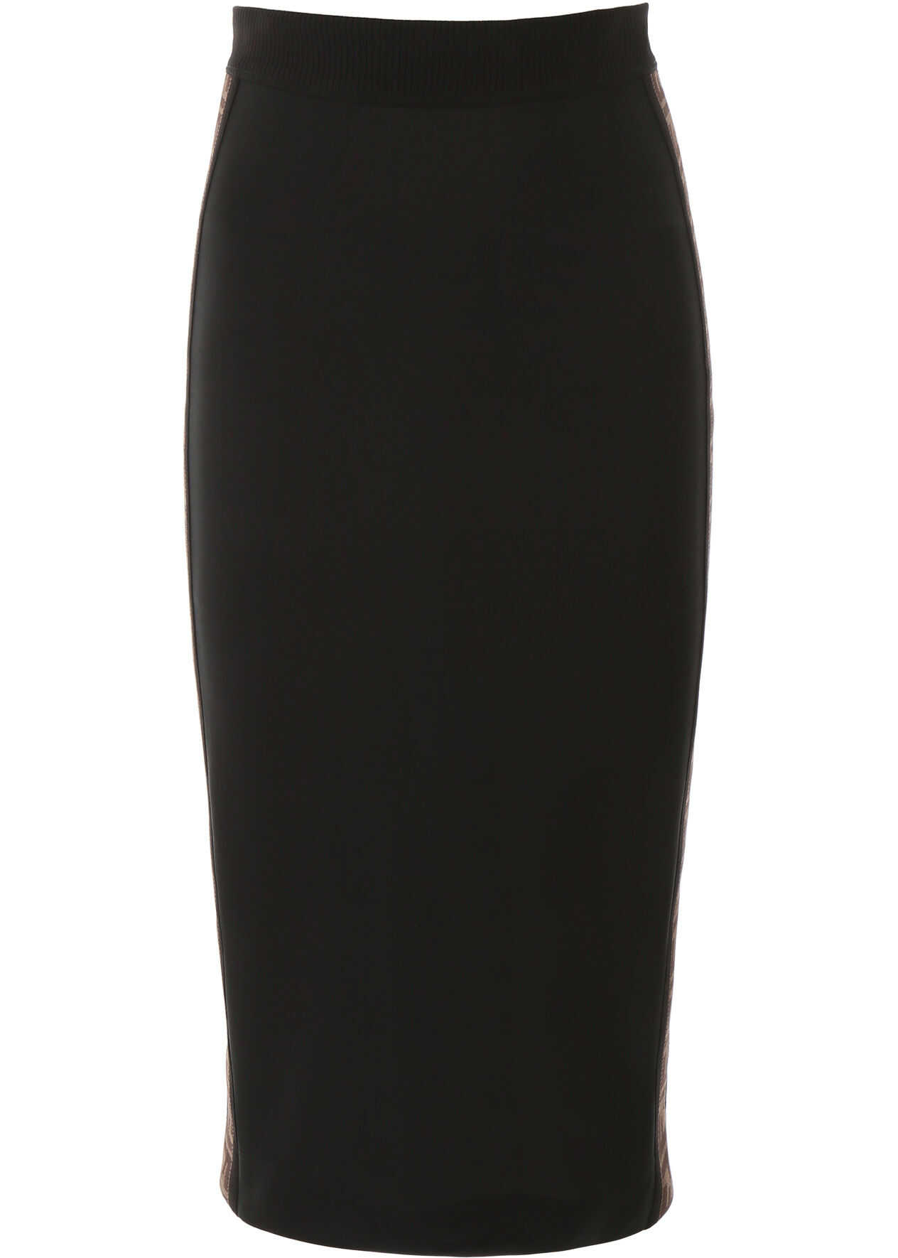 Fendi Pencil Skirt With Bands BLACK