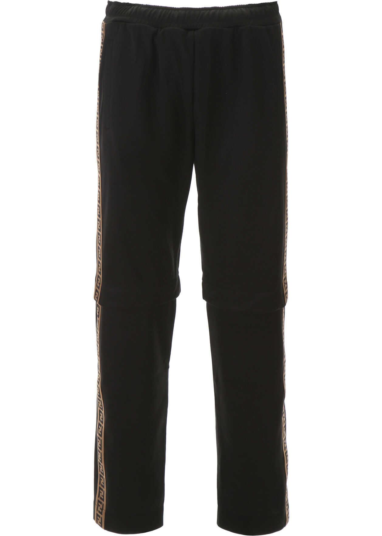 Fendi Joggers With Detachable Inserts BLACK