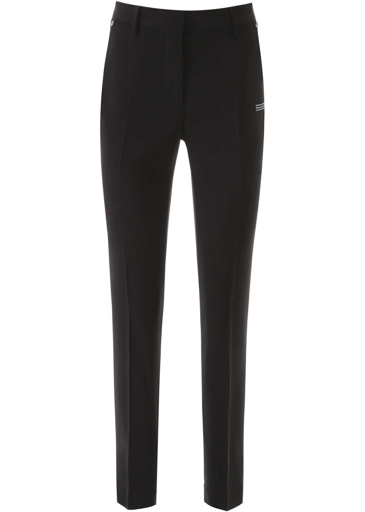 Off-White Classic Trousers BLACK NO COLOR