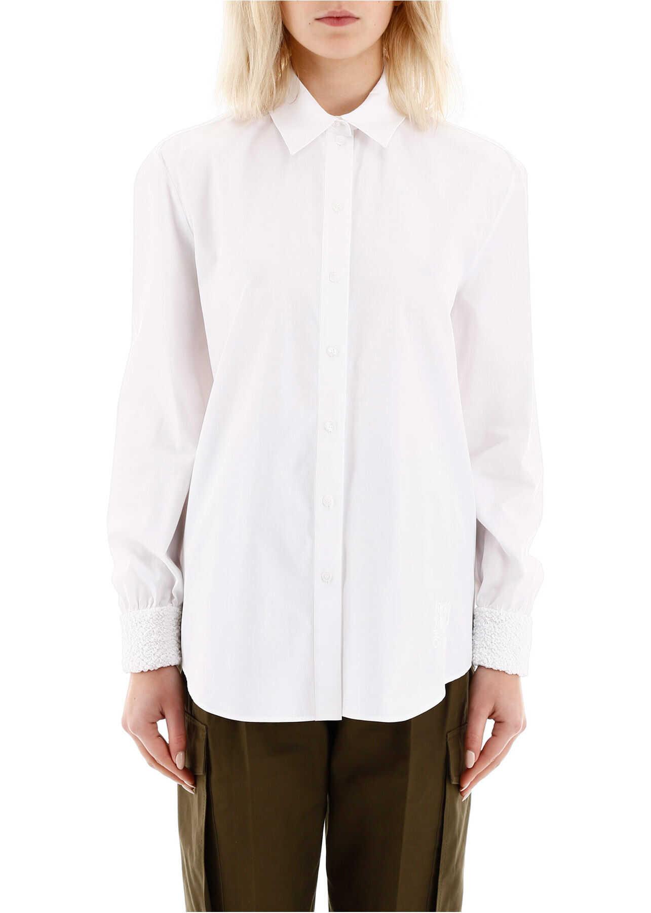 Kenzo Shirt With Smocked Cuffs FA52CH0195AP BLANC image0