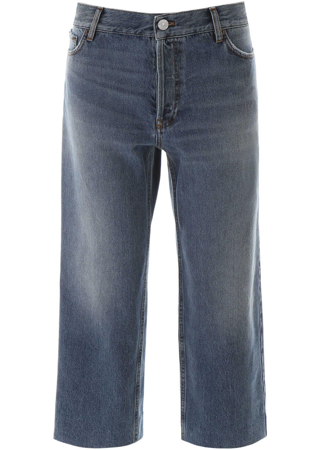 Balenciaga Cropped Jeans LIGHT VINT INDIGO