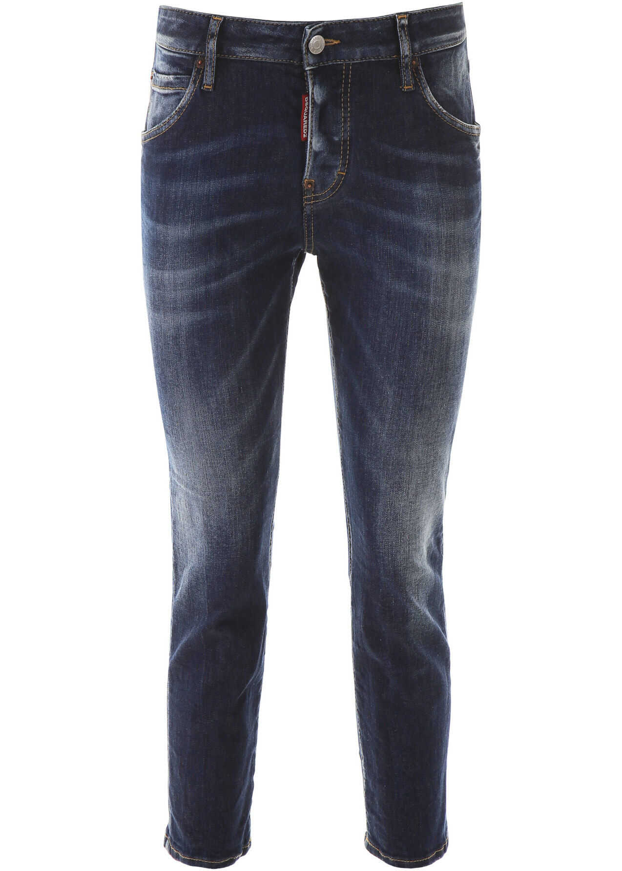 DSQUARED2 D2Xpepsi Cool Girl Cropped Jeans BLUE