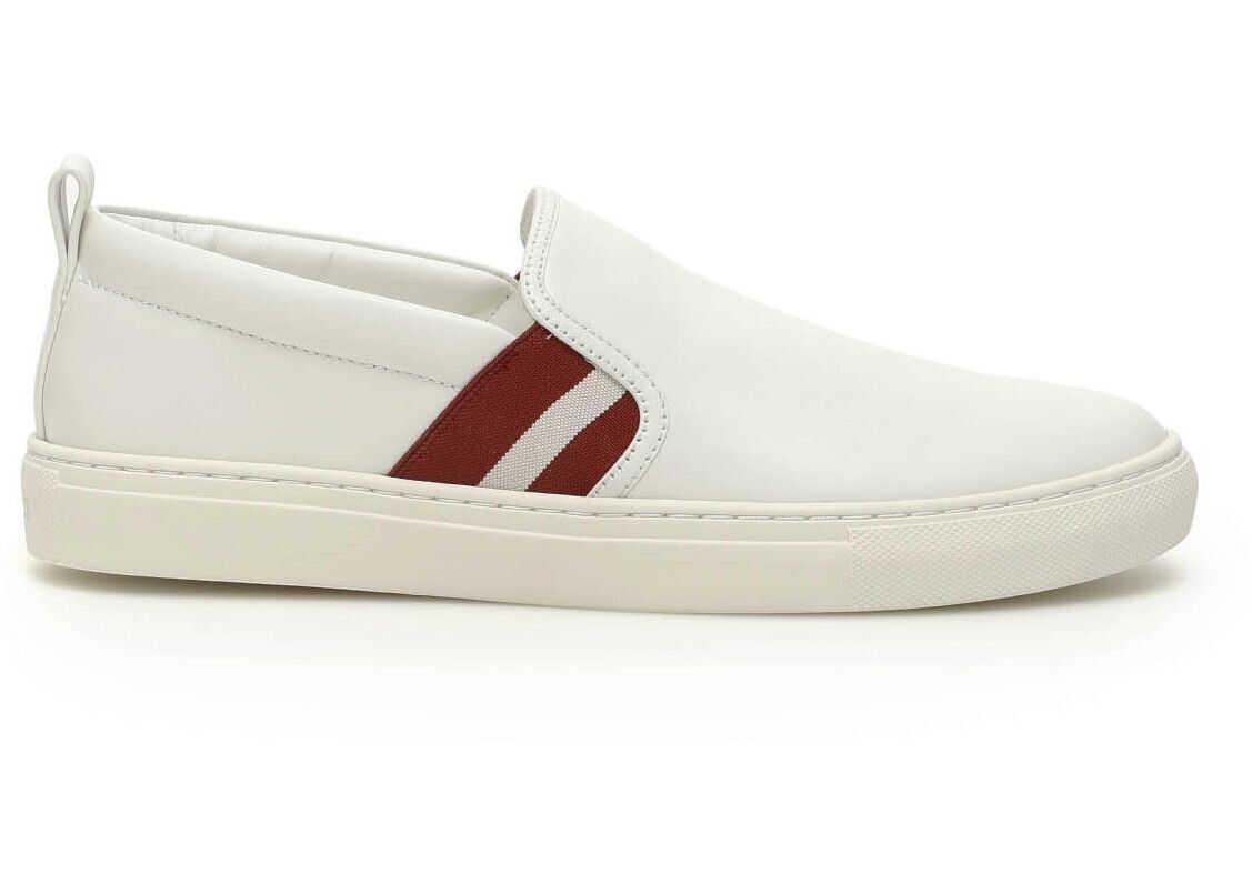 Bally Herald Slip On Sneakers 6231591 WHITE imagine b-mall.ro