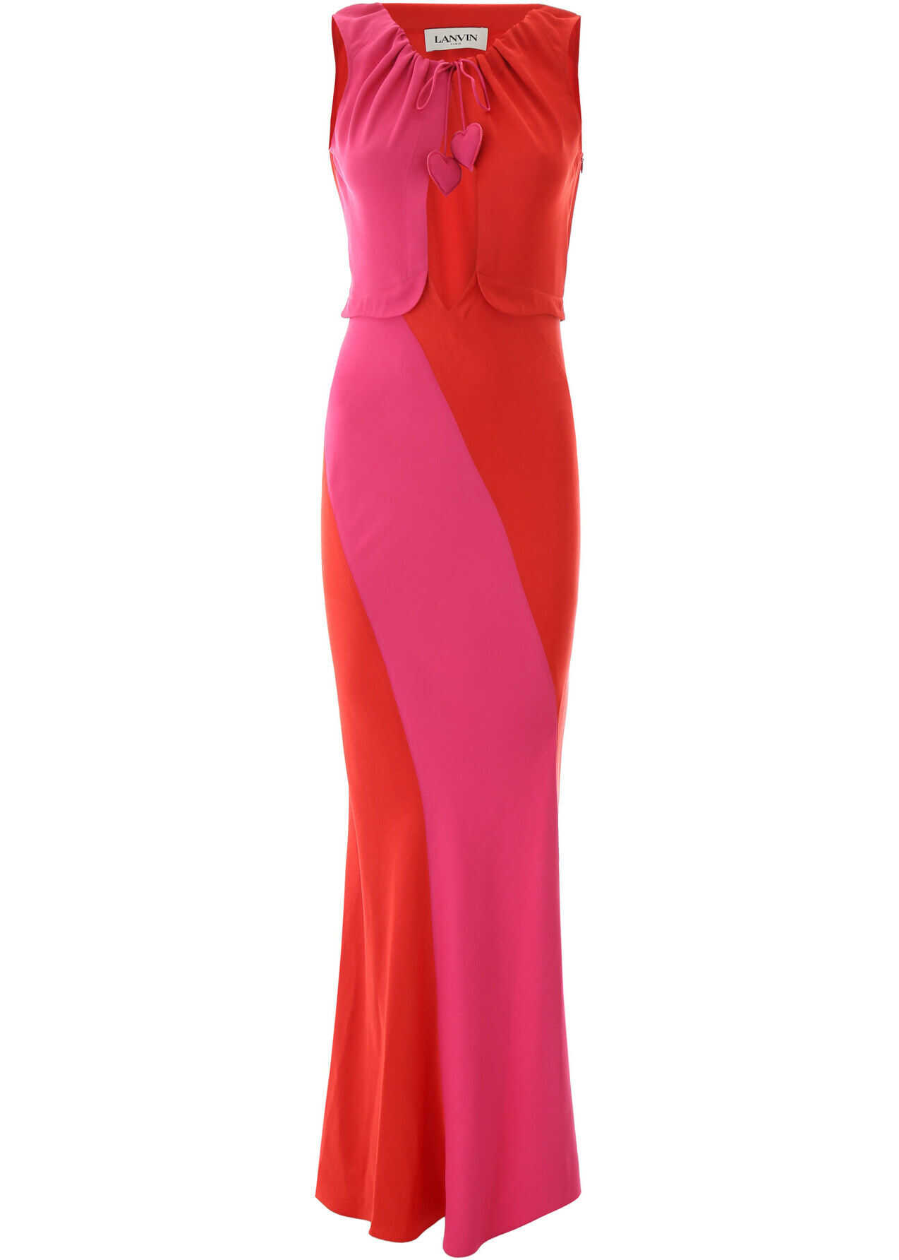 Lanvin Two-Coloured Long Dress RED