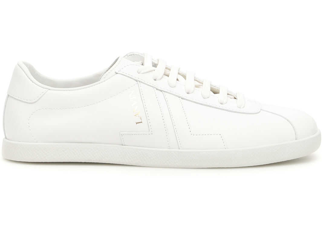 Lanvin Leather Jl Sneakers WHITE