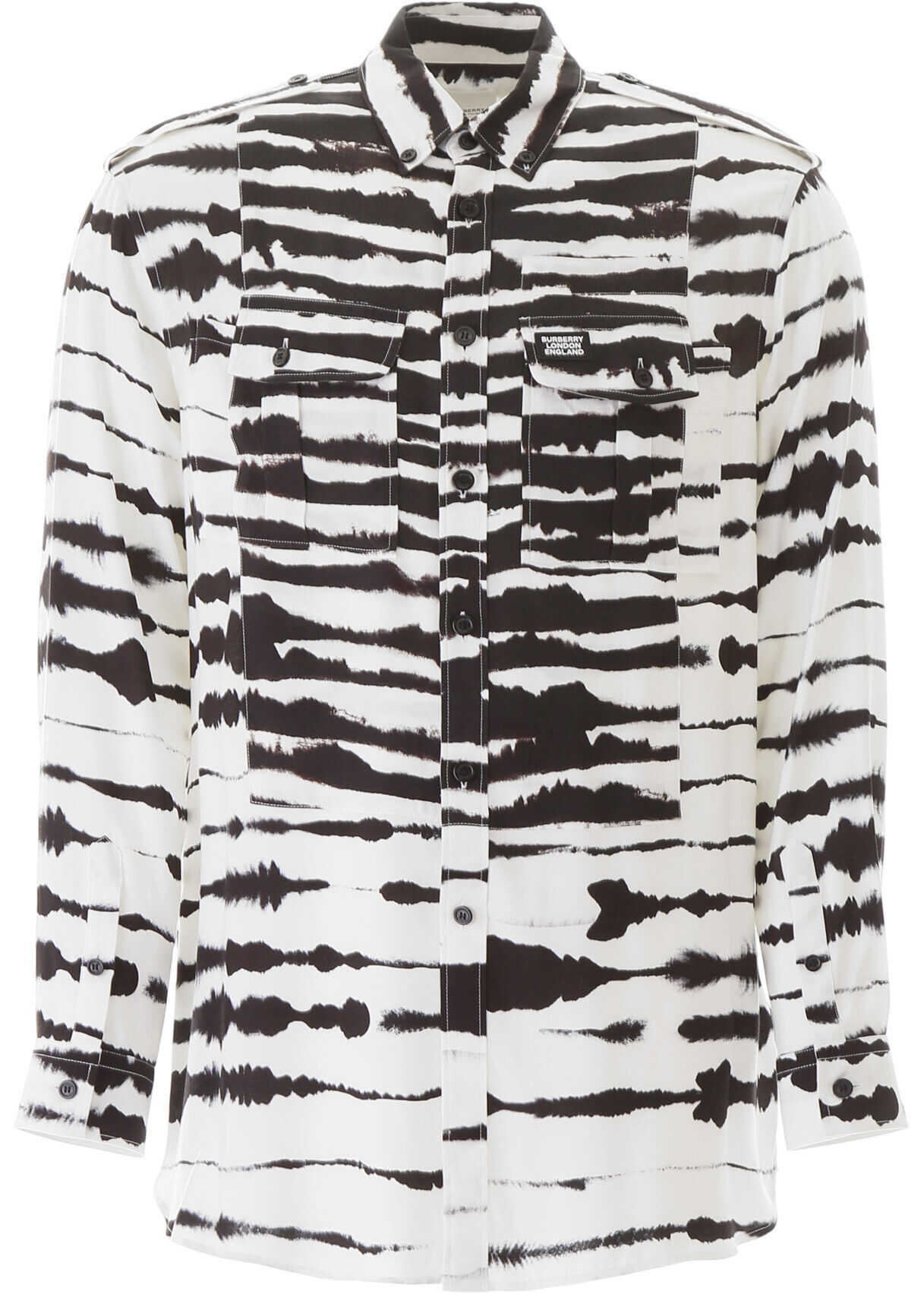 Burberry Watercolour Print Shirt MONOCHROME IP PTTN