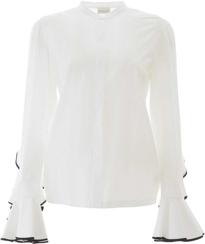Dries Van Noten Ruffled Shirt WHITE