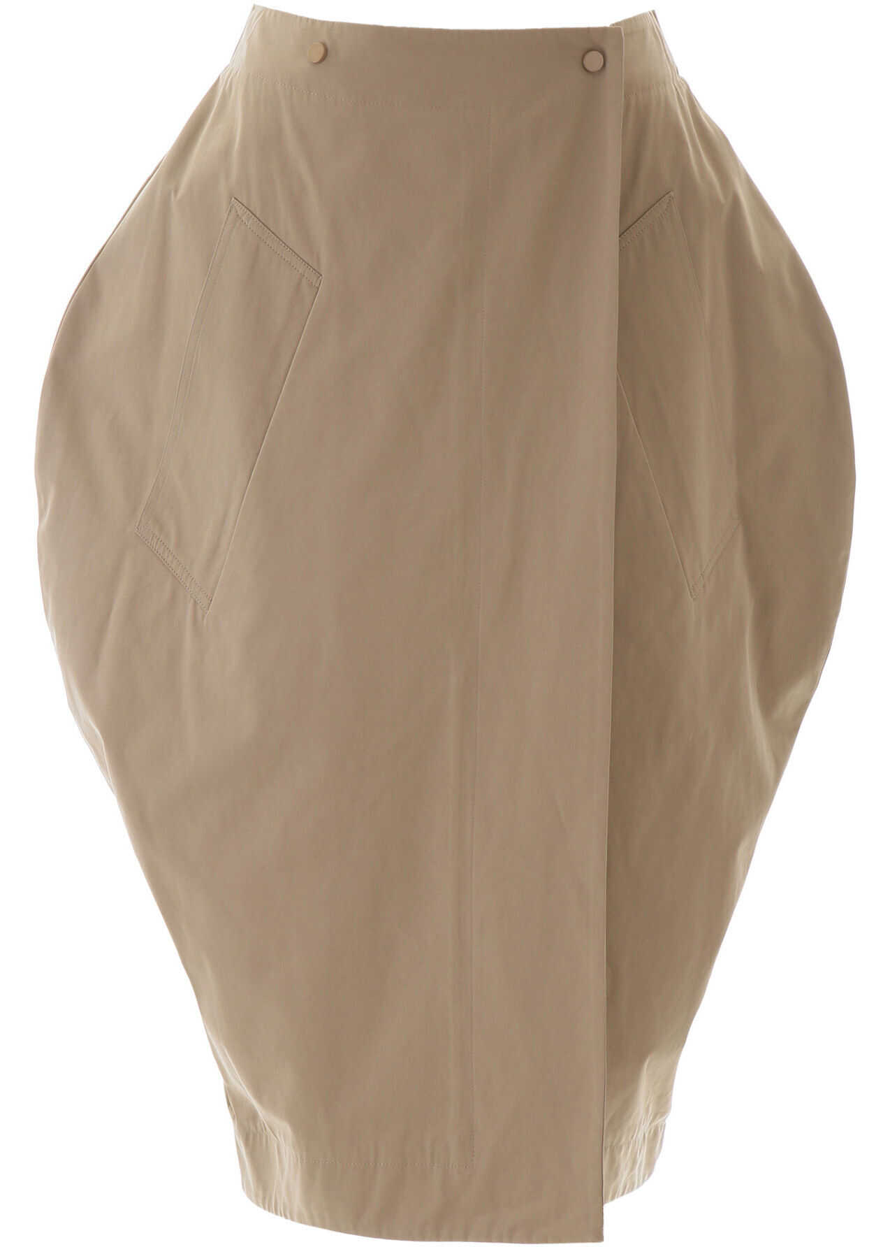 Bottega Veneta Balloon Skirt SAND