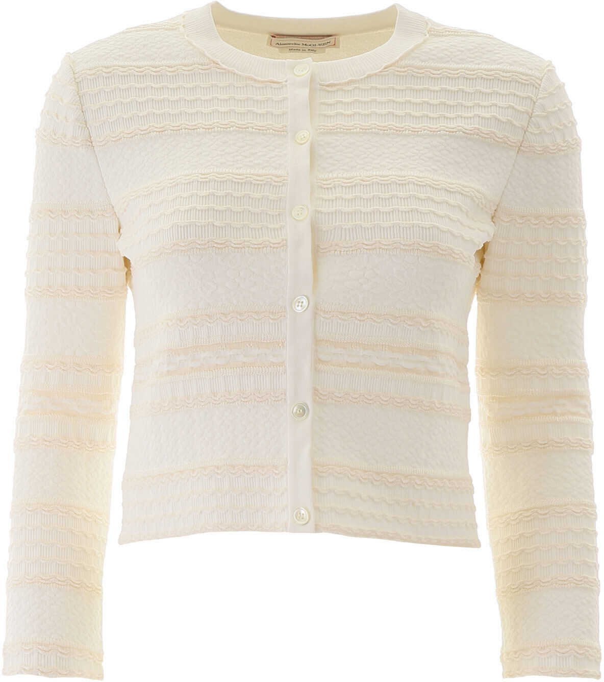 Alexander McQueen Cropped Cardigan IVORY