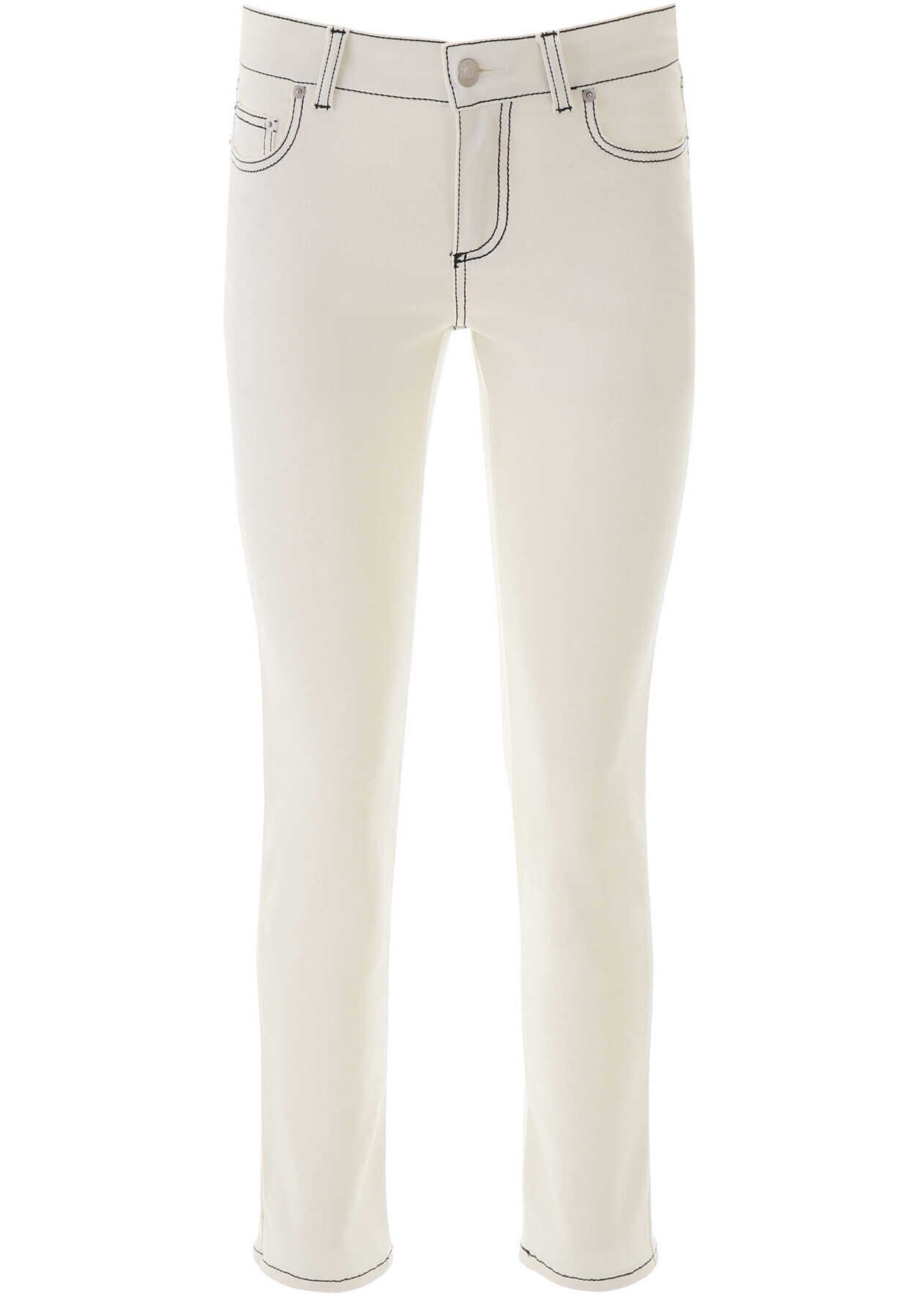 Alexander McQueen Jeans With Contrast Seams CHALK