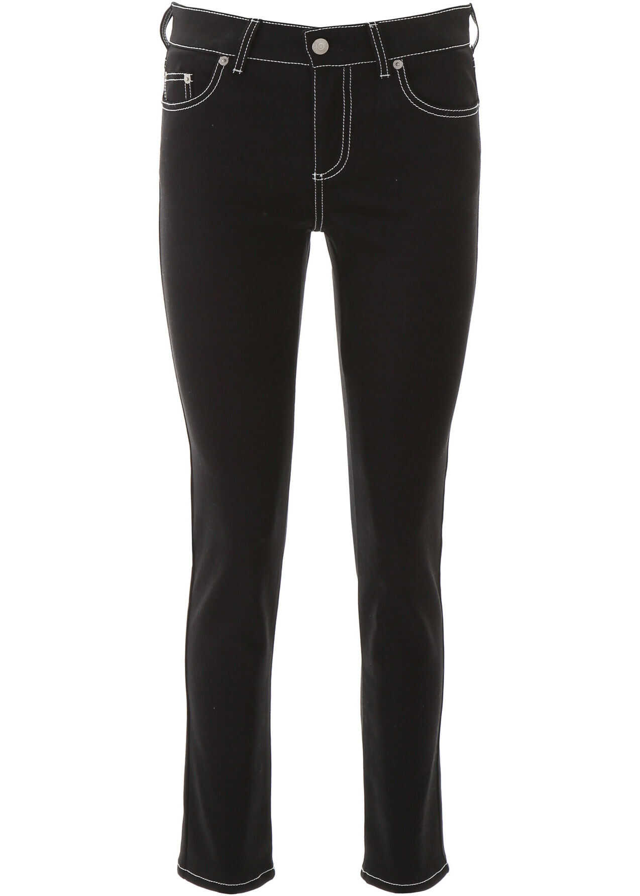 Alexander McQueen Jeans With Contrast Stitches BLACK
