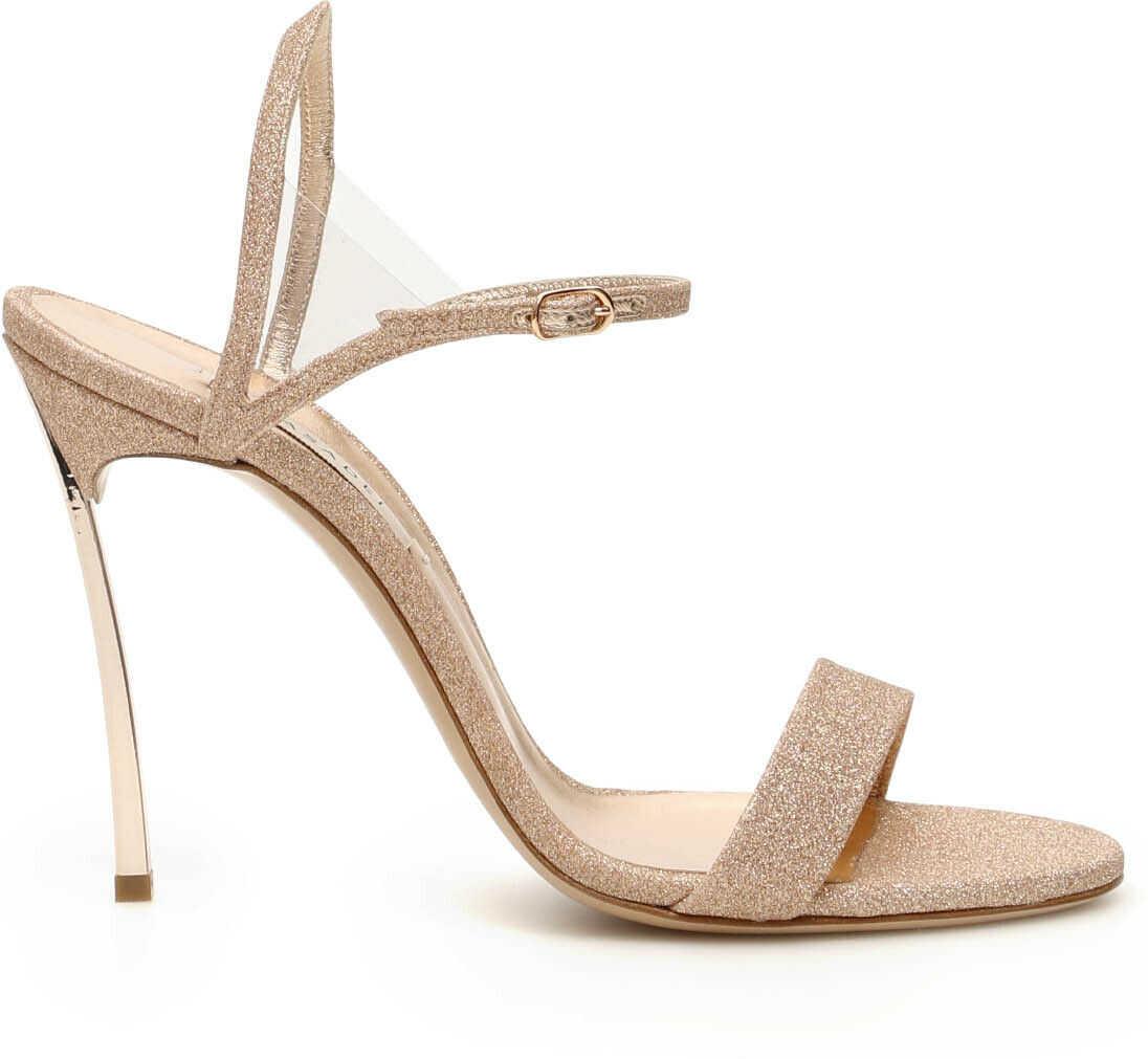 Casadei V Celebrity Blade 100 Sandals ORO ROSA