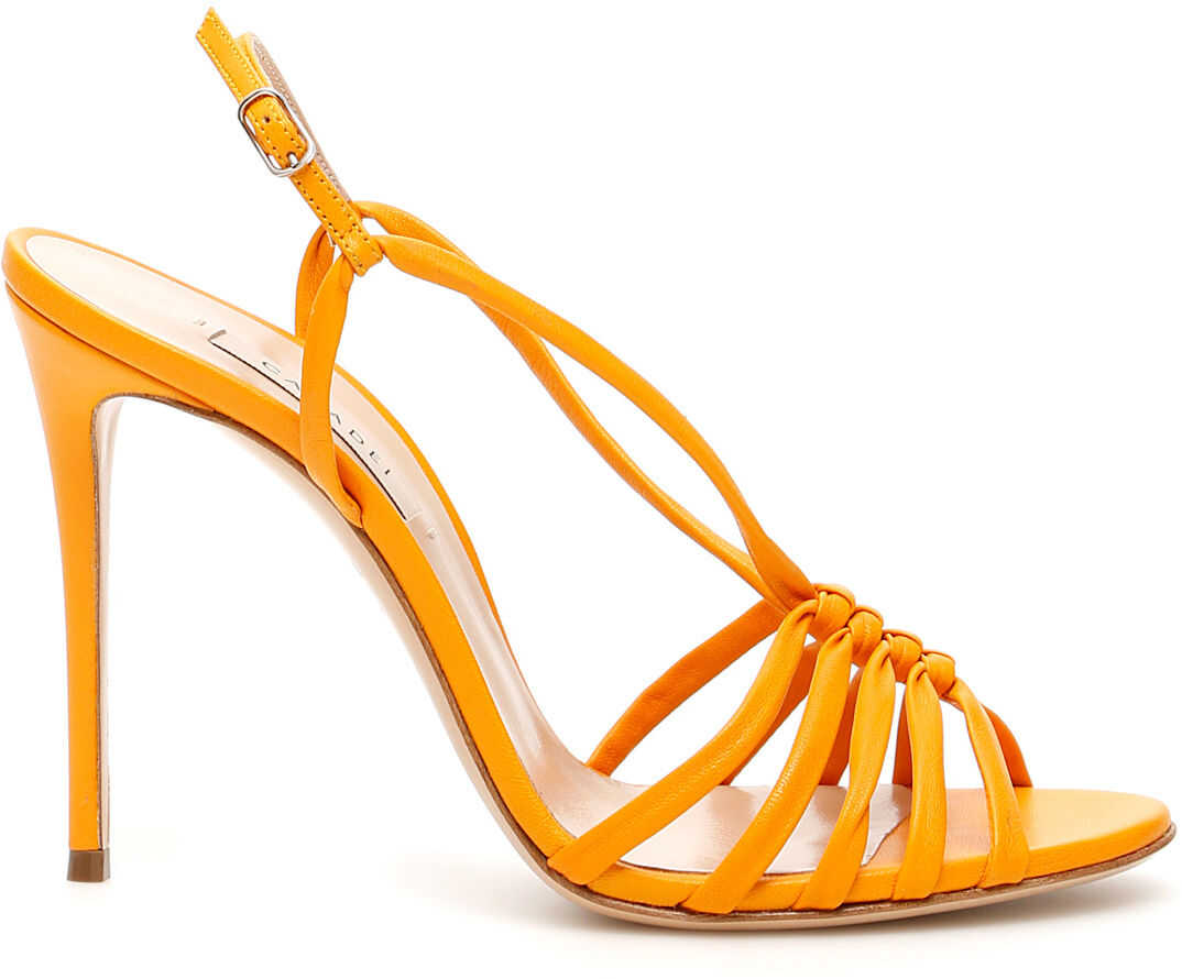 Casadei Sandals With Weaving GOLDEN SPICE