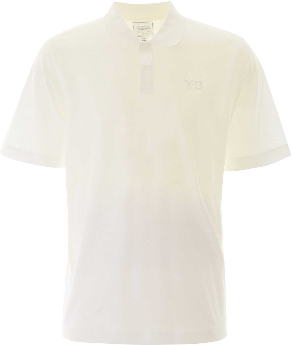 Y-3 Polo Shirt With Rubber Logo Patch CORE WHITE