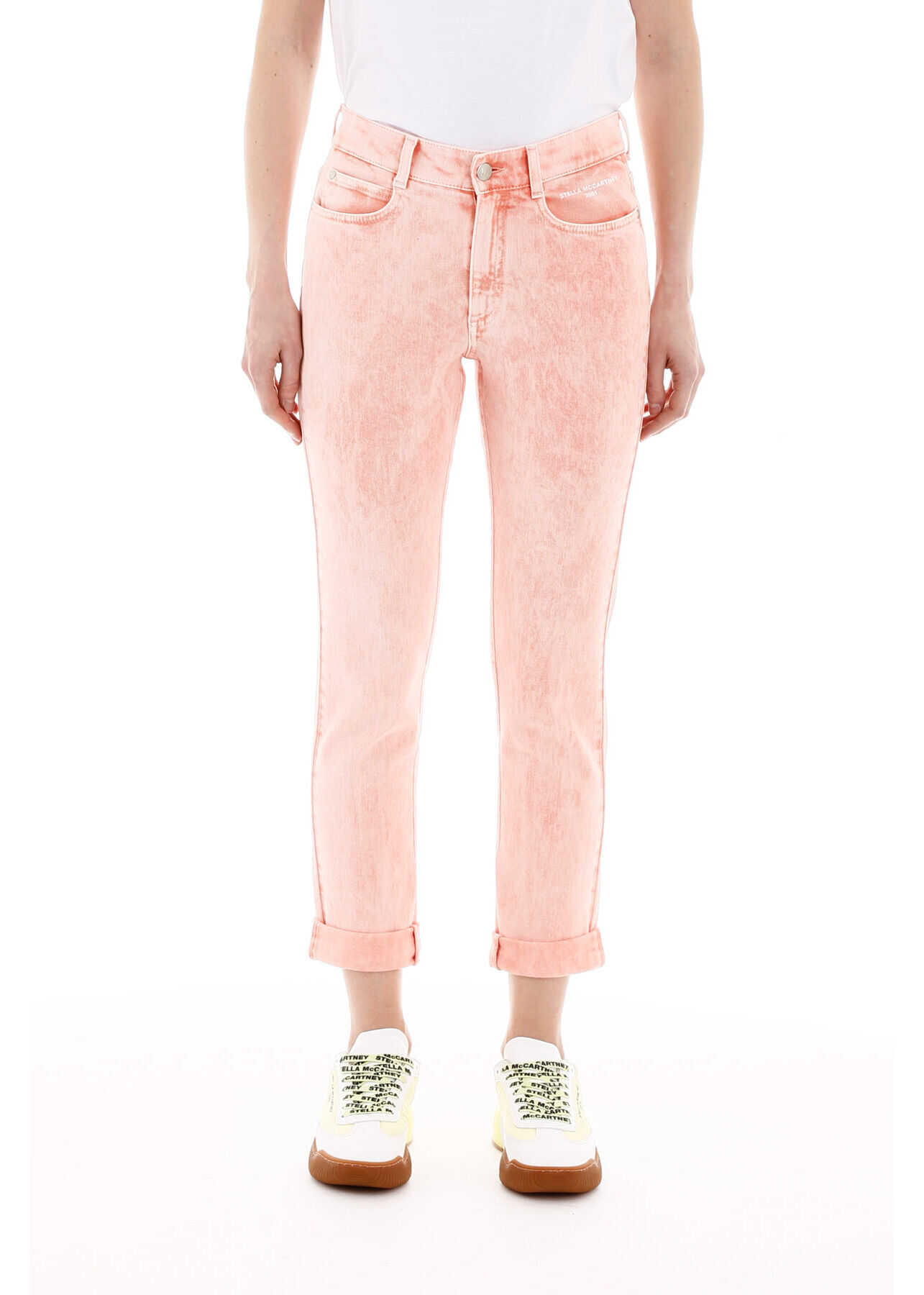 adidas by Stella McCartney Boyfriend Skinny Jeans PEACH