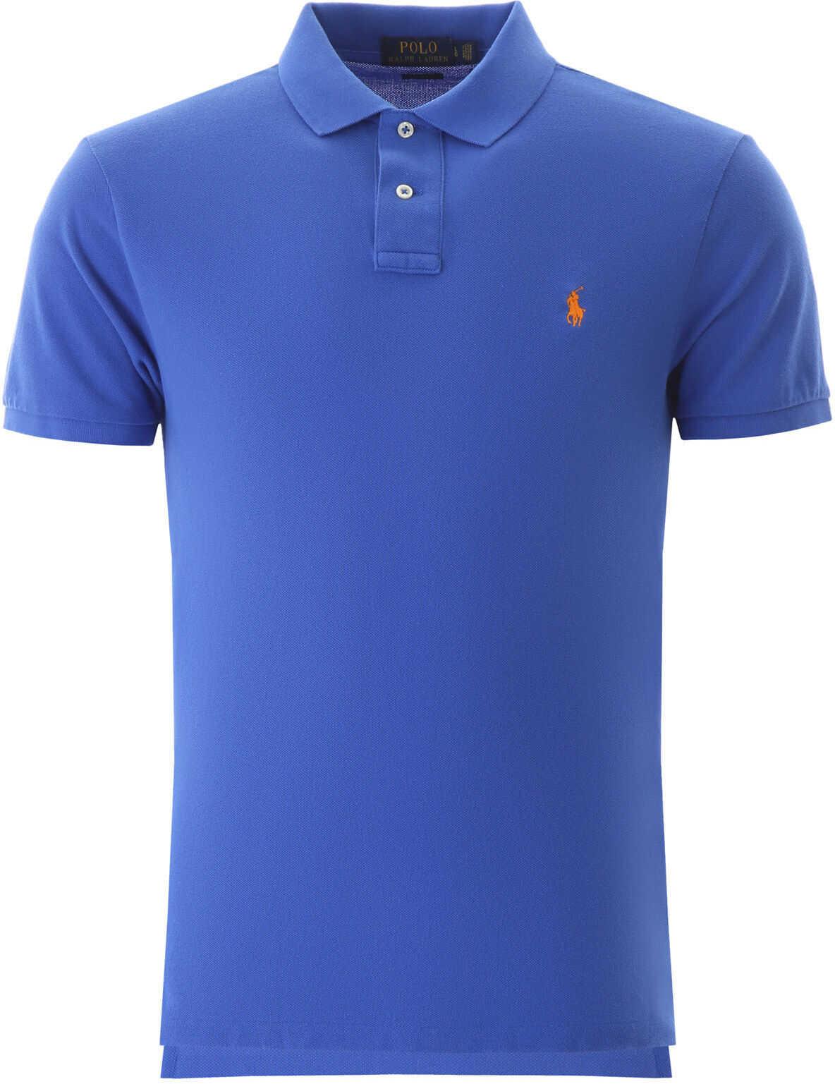 Ralph Lauren Slim Fit Polo Shirt NEW IRIS BLUE imagine