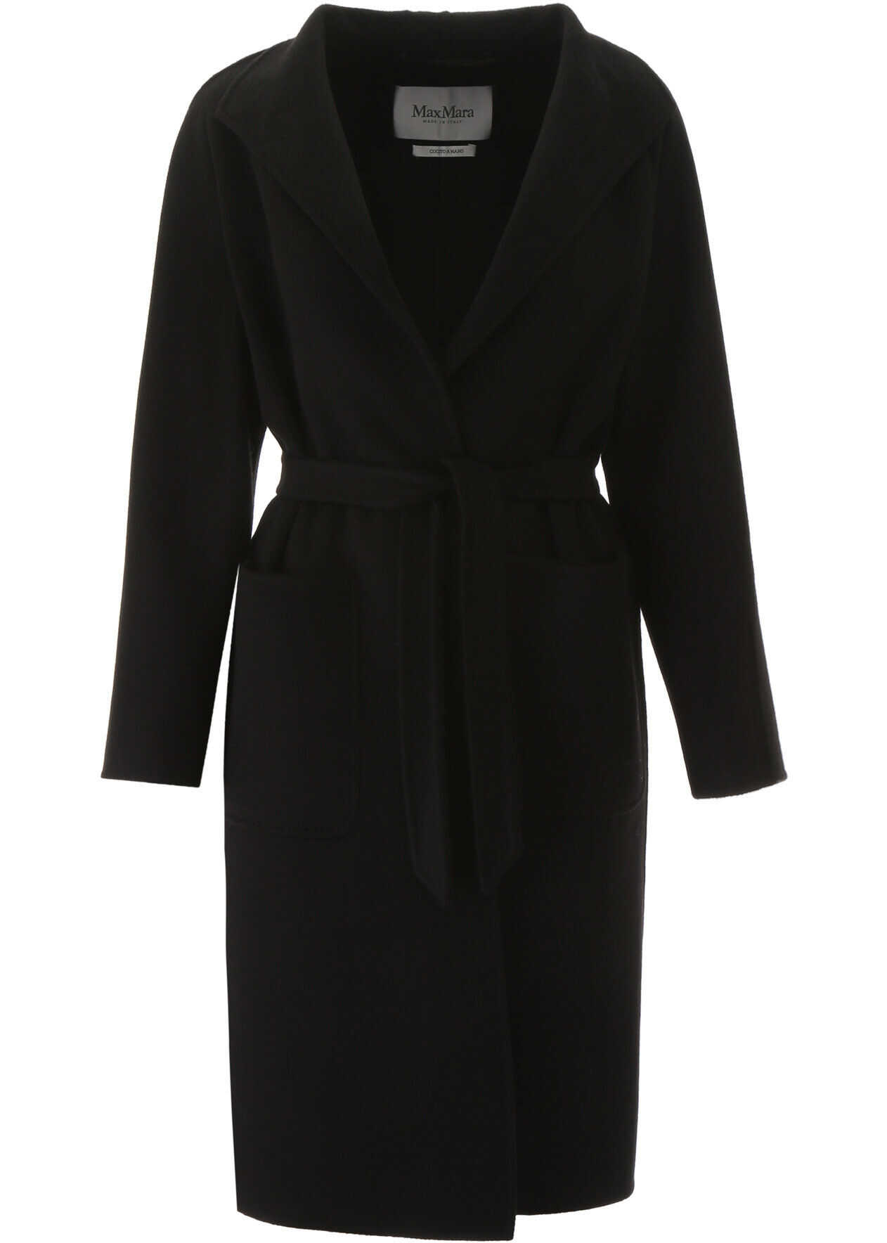 Max Mara Cashmere Coat NERO