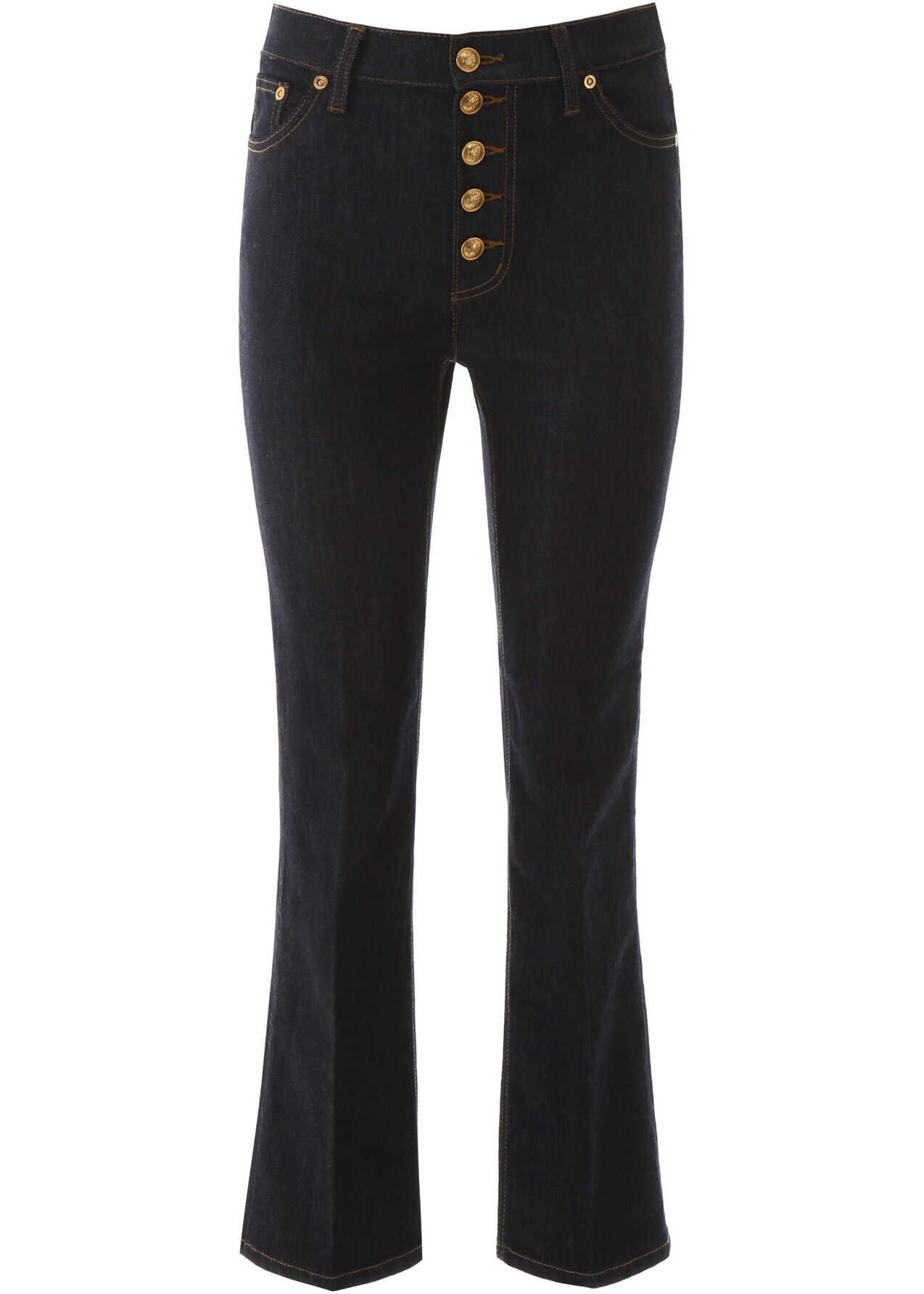 Tory Burch Jeans With Logo Buttons RESIN RINSE