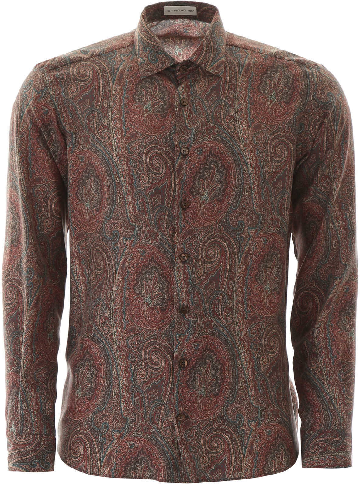 ETRO Silk Paisley Shirt MARRONE