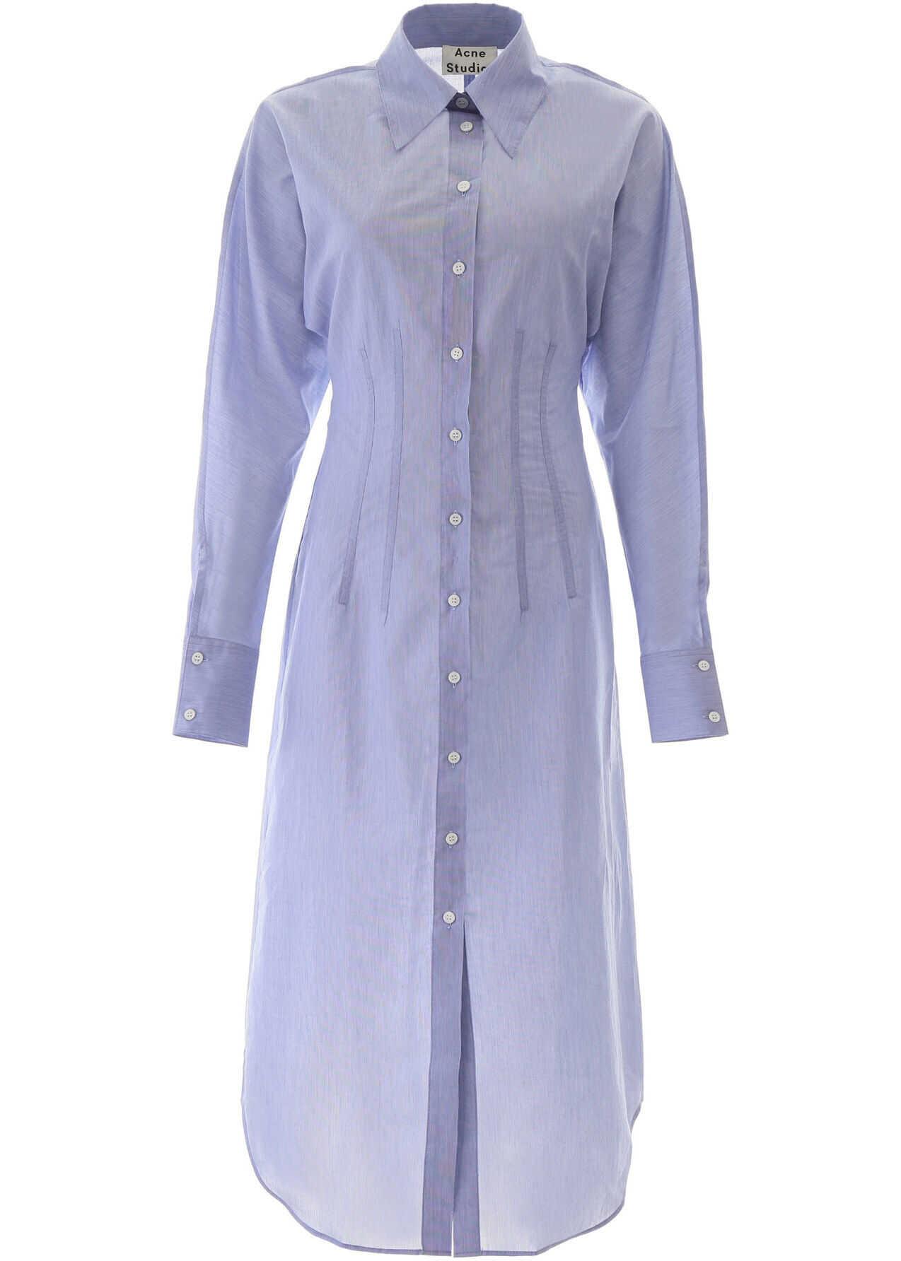 Acne Studios Midi Shirt Dress POWDER BLUE