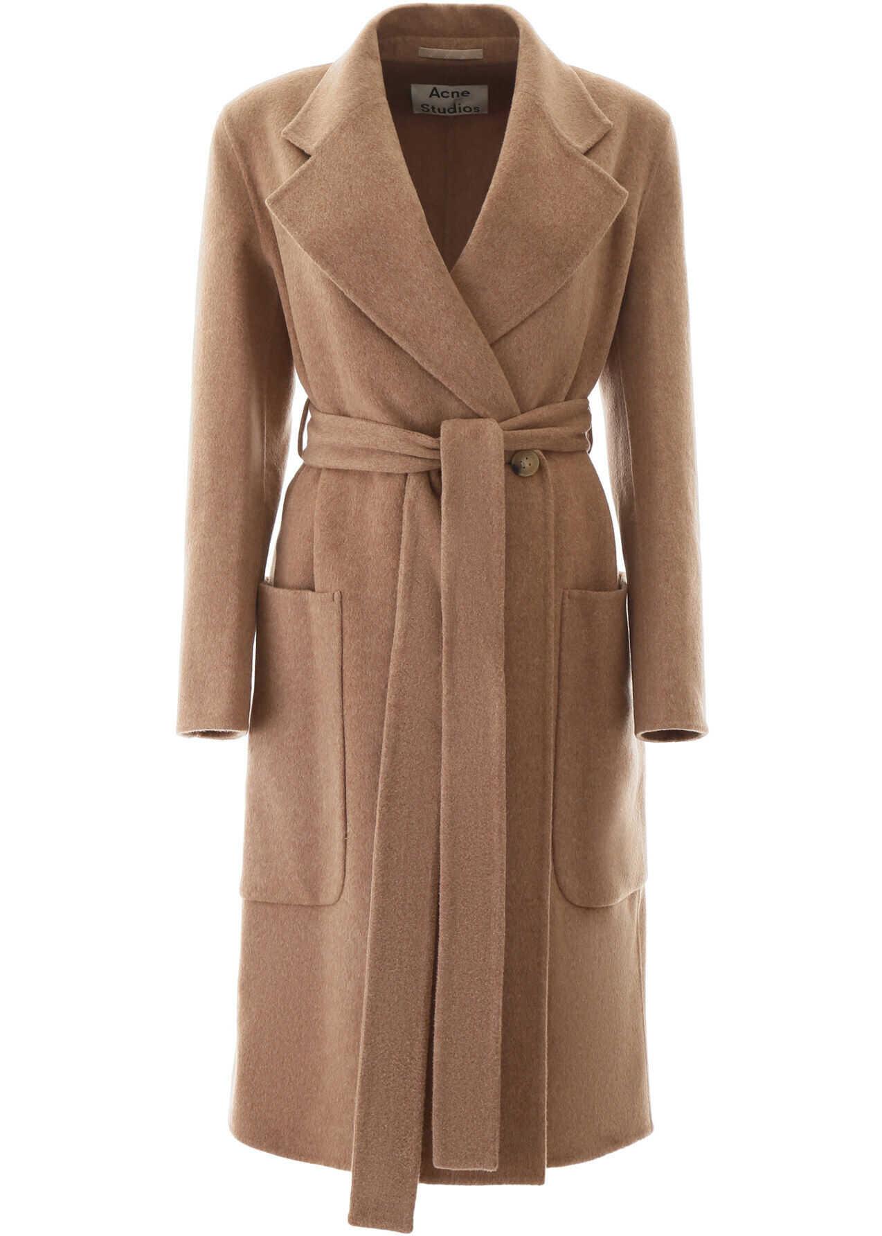 Acne Studios Wool Coat CAMEL MELANGE