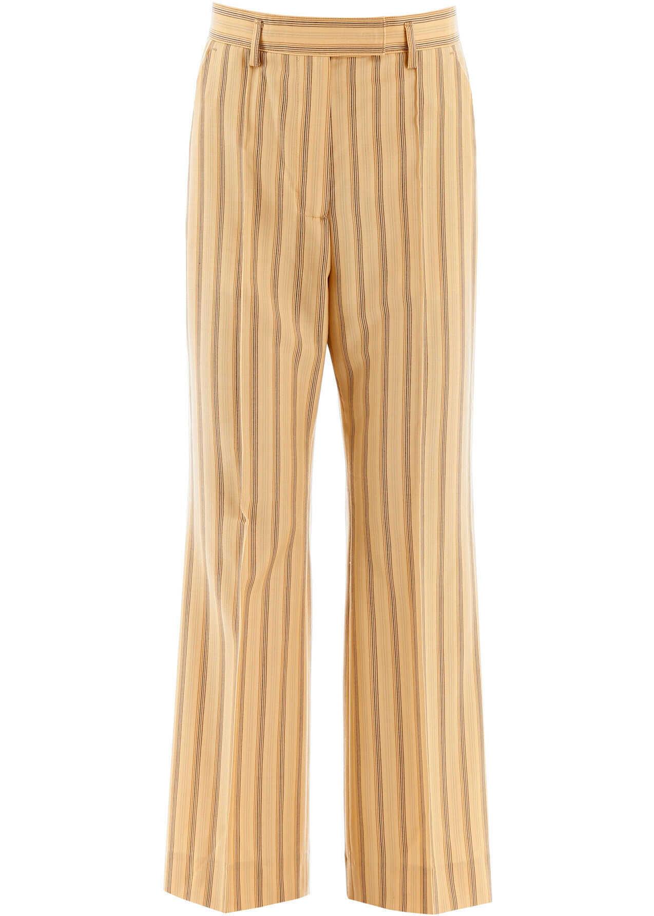 Acne Studios Striped Trousers PALE ORANGE