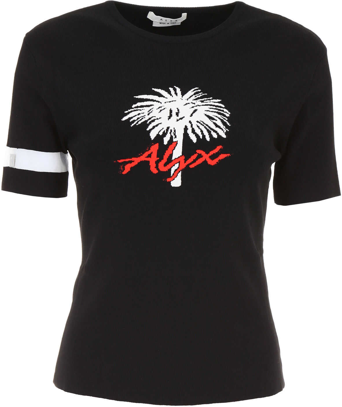Alyx 1017 9Sm Palm Intarsia Top BLACK