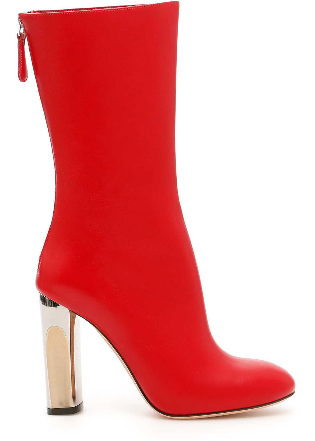 Alexander McQueen Leather Boots DEEP RED 183