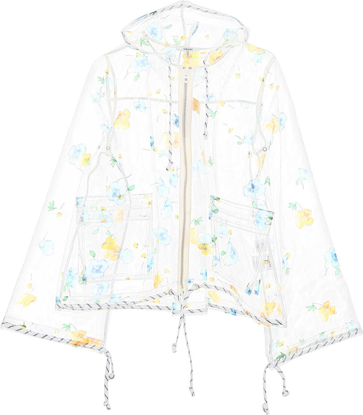 Ganni Petunia Raincoat TRANSPARENT