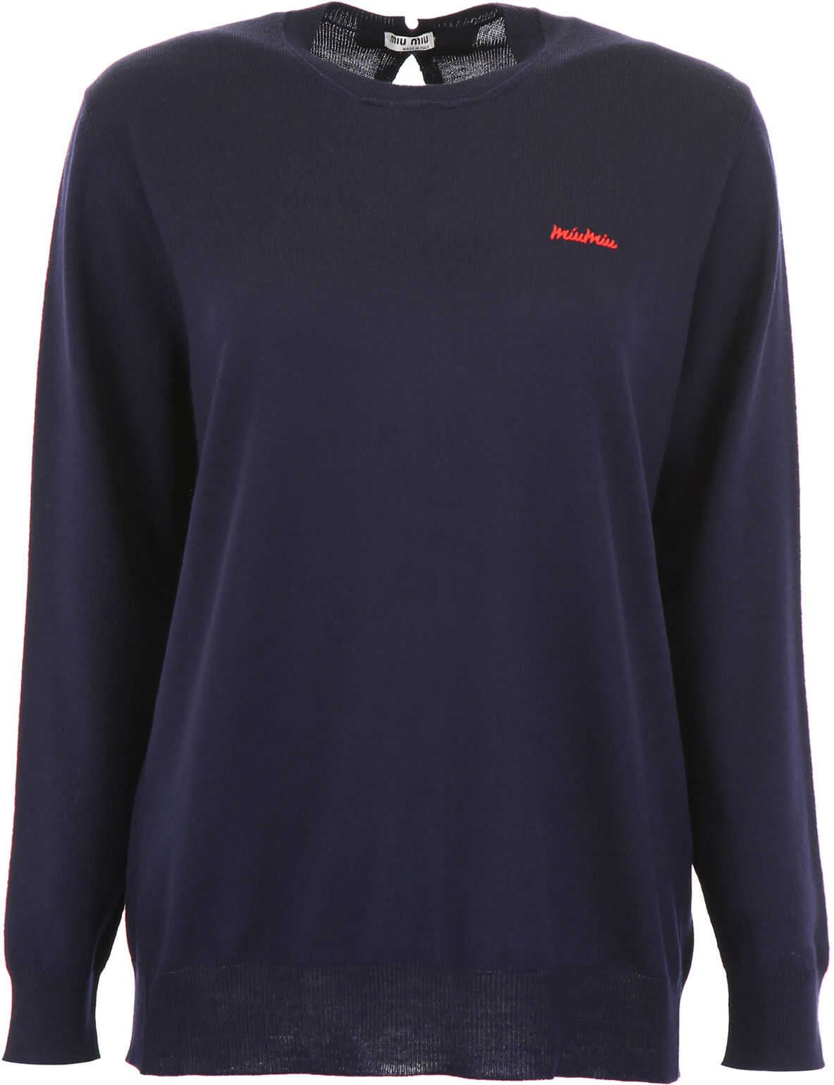 Miu Miu Pullover With Bows On The Back BLEU