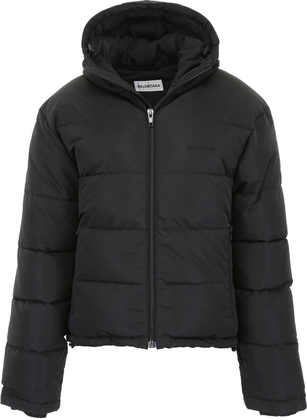 Balenciaga Hooded Puffer Jacket BLACK