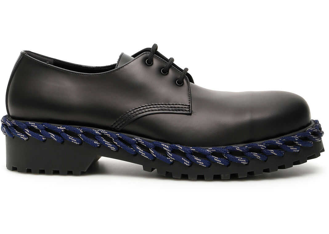Balenciaga Derby Lace-Ups BLACK BLUE GREY