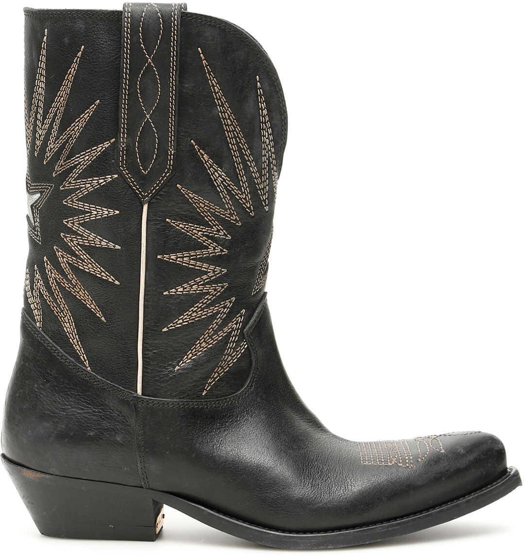 Golden Goose Wish Star Boots BLACK