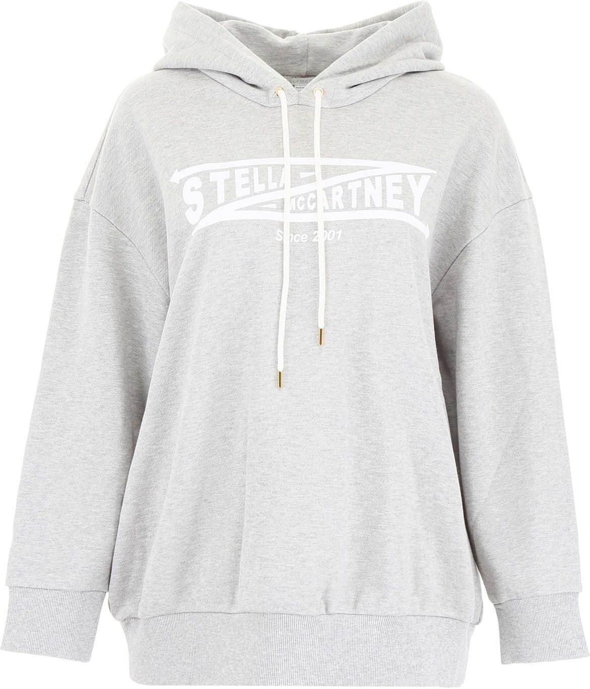 adidas by Stella McCartney Logo Hoodie GREY MELANGE