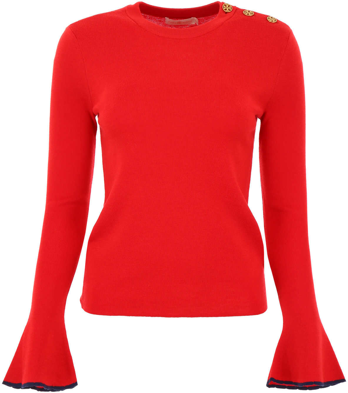 Tory Burch Pull With Flared Sleeves RED VOLCANO