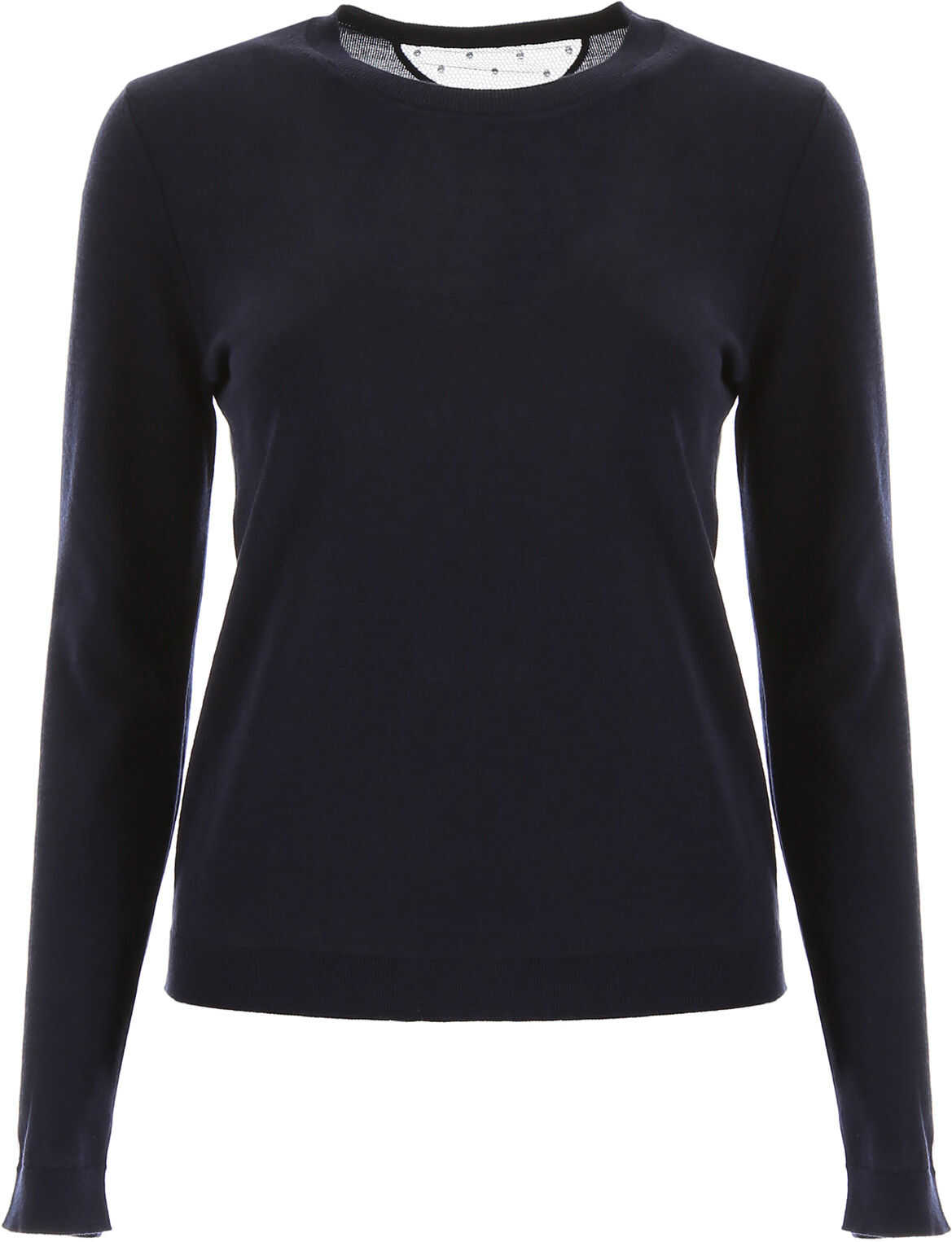 RED VALENTINO Pullover With Plumetis Insert BLUE