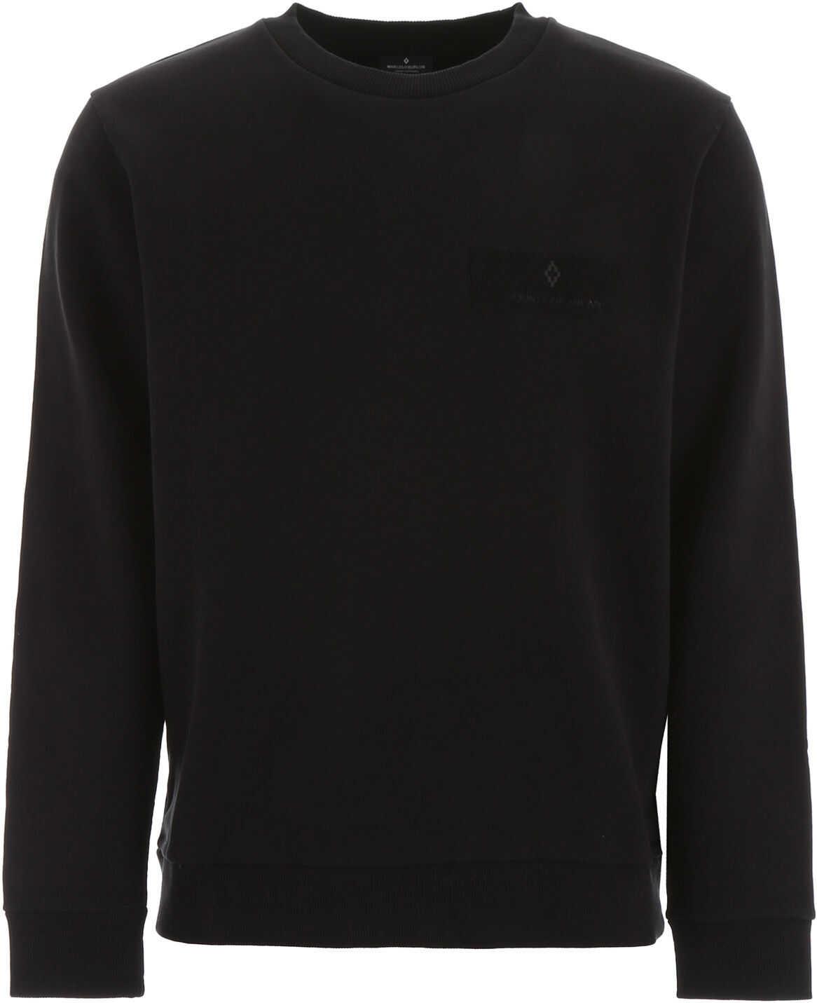 Marcelo Burlon Wings Patch Sweatshirt BLACK MULTICOLOR