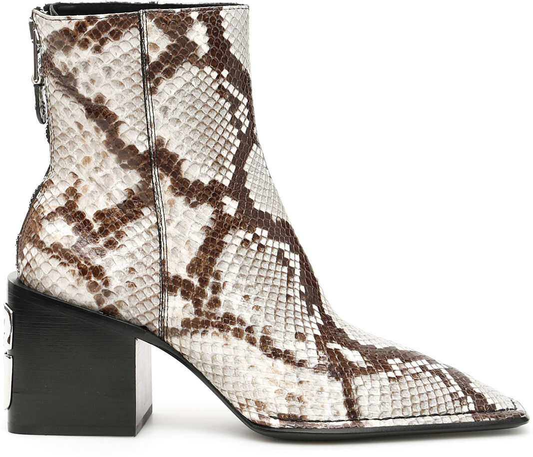 Alexander Wang Python-Print Parker Boots BLACK AND WHITE