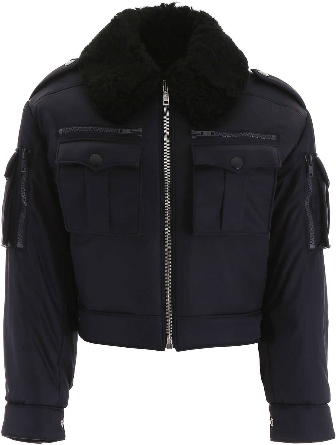 Prada Jacket With Shearling Collar NAVY