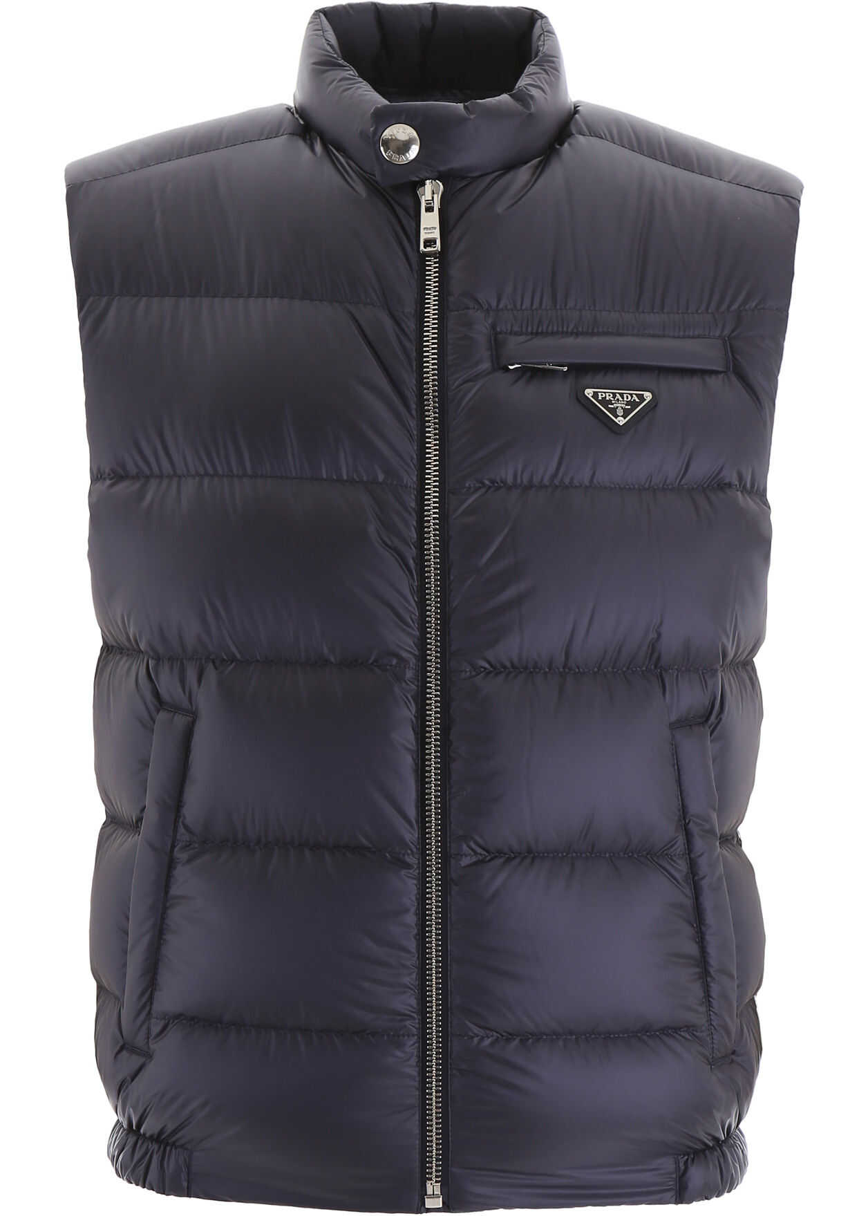Prada Bicolor Puffer Vest NAVY AVIAZIONE
