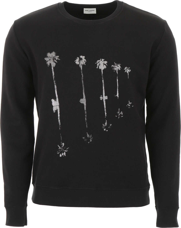 Saint Laurent Palms Print Sweatshirt NOIR ARGENT