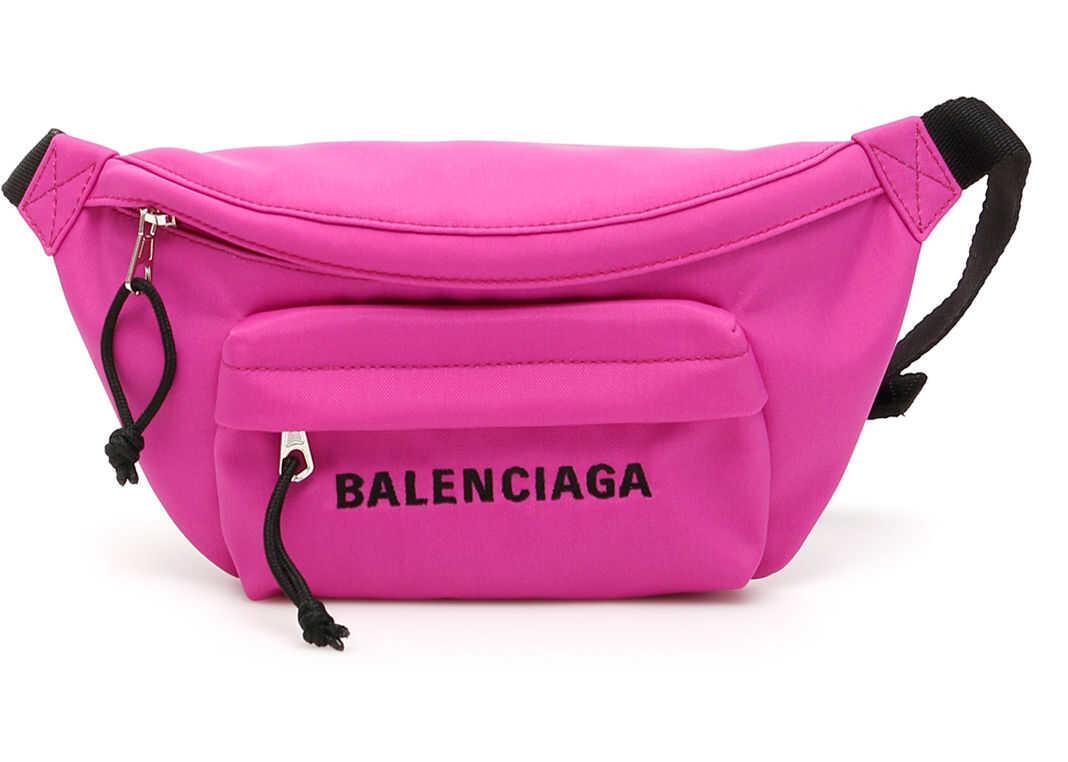 Balenciaga Logo Beltbag FUCHSIA BLACK