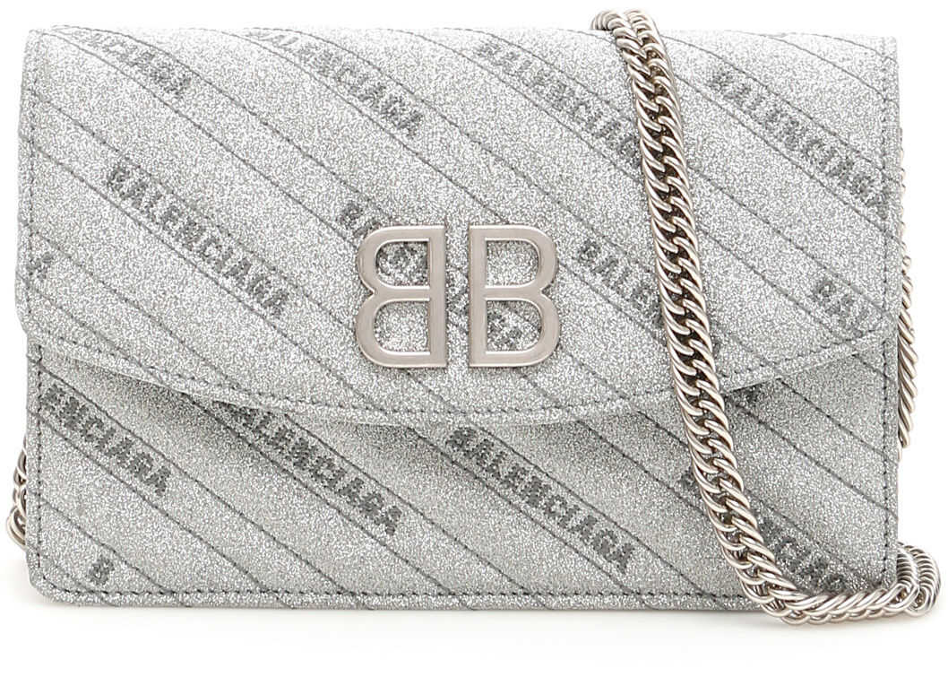 Balenciaga Bb Wallet On Chain SILVER
