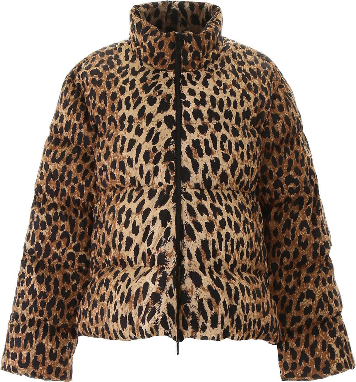 Balenciaga Leopard-Printed Puffer Jacket BEIGE