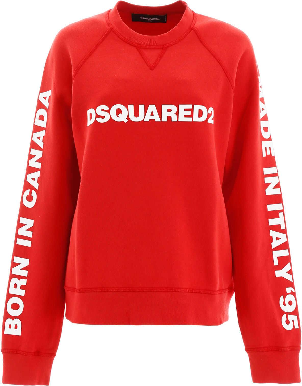 DSQUARED2 Printed Sweatshirt RED