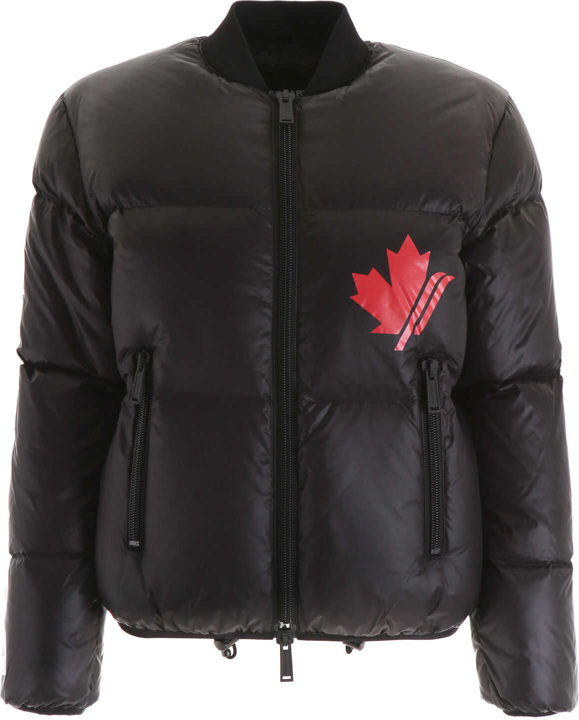 DSQUARED2 Logo Puffer Jacket BLACK